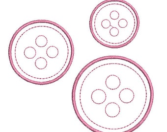 Instant download Button machine embroidery design for scrapbooking