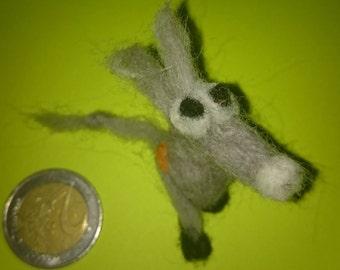 Small felt donkey Kichik