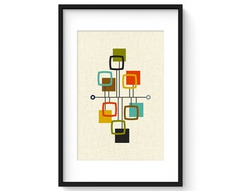 VIEW - Danish Modern Print, Mid Century Print, Giclée Print, Abstract Modern Art
