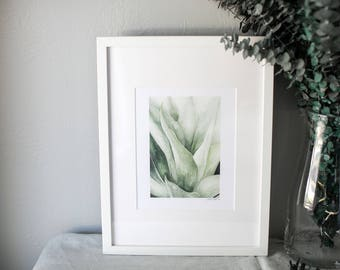 """Agave Watercolor Succulent Painting 