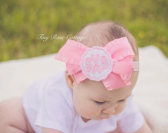 Monogrammed Headband Embroidered