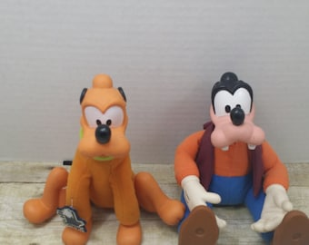 Goofy and Pluto stuffed toys, Disney Plushies, Applause, vintage disney, vintage stuffed animals