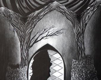 Shattered Archway Drawing
