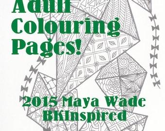 Zendoodle Zentangle Kites Coloring Page Pdf