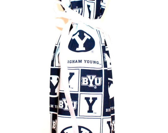 WINE GIFT BAG ~ Brigham Young ~ Sack ~ Tote ~ Bell Art Designs WB98