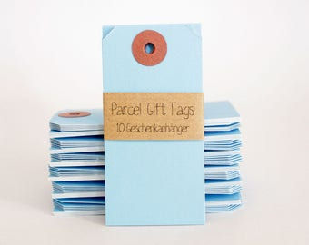 10 Gift Tags Manila - Blue