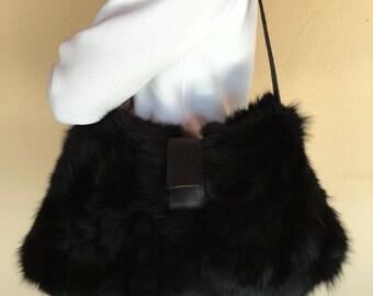 Real fox fur bag, Shoulder handbag F226