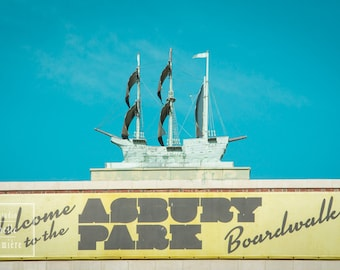 Asbury Park Architecture, Copper Ship atop Convention Hall, Beach House Decor, Jersey Shore, New Jersey, Fine Art Photography Print