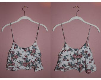 Brandy Melville Floral Crop Top