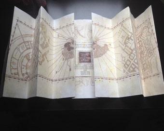 Full Scale Harry Potter Marauder's Map Replica