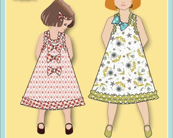 Jemima Party Dress PDF Sewing Pattern downloadable e-book (Child sizes 18 mo - 6)