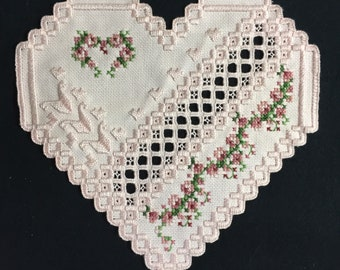 Hardanger Doily Embroidery PINK