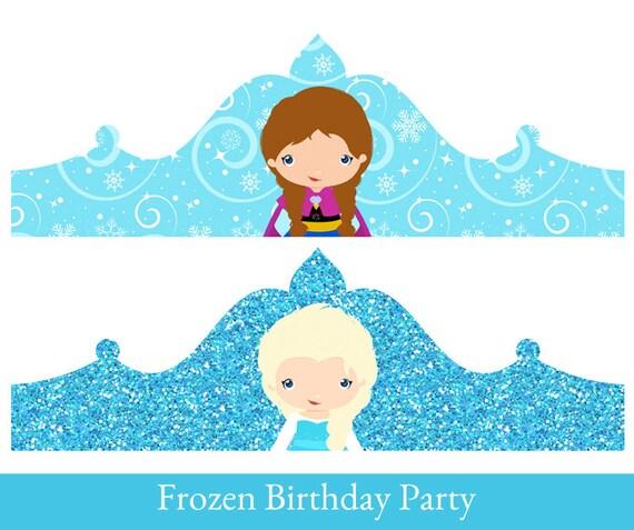 frozen crown princess elsa birthday crown crown printable