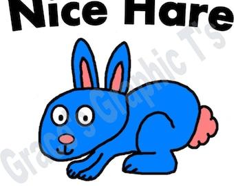 Nice Hare Bunny Rabbit T-Shirt