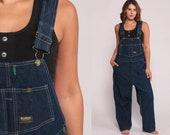 OshKosh Overalls Bib Overalls 90s Denim Women Osh Kosh Jeans Grunge Pants Baggy Long Blue Dungarees Coveralls Hipster Vintage Extra Large xl