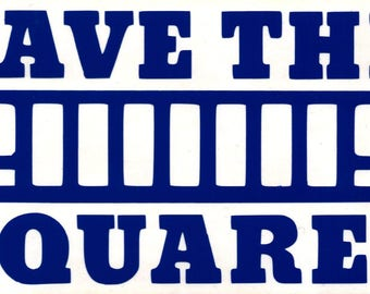 Save the Squares Vinyl Decal