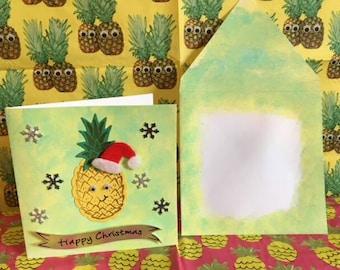 Happinapple Christmas card! Handmade and fun!