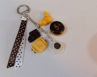 Key chains gourmet chocolate pastry