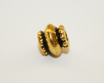 Spacers, Antique Gold Bead Spacer, Bead Spacer, Ship From Texas - 7x6mm - 20ct - #534