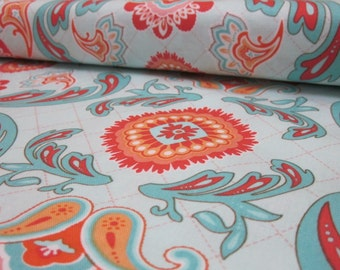 Avignon Blue Orange Fabric Fat Quarter