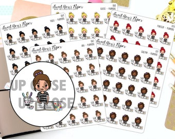 Planner Stickers - Planning Stickers - Doodle Planner Stickers - Character Sticker - Doodle Planner Sticker - 1267 - 1268 - 1269 -1270 -1271
