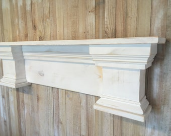 Fireplace Mantle, French Country Mantle, Shabby Chic Fireplace Mantel