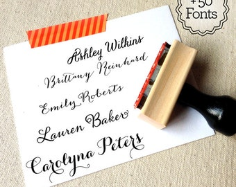Custom Stamp, Name Stamp, Custom Name Stamp, Create Your Own Stationery, Stamp With Name, Custom Gifts, Personalized Gifts, Gifts Under 20