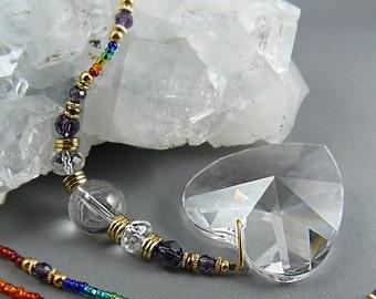 Window Crystal, Rainbow Crystal, Suncatcher, Gemstone Suncatcher, Yoga Studio, Hanging Crystal, Feng Shui Crystal, Sun Catcher, Prism, Zen