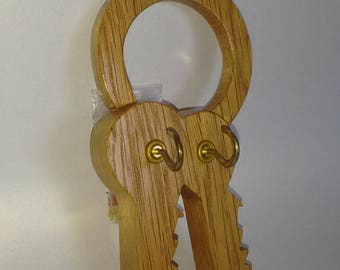 Handcrafted,Oak Wood,Key Hooks/Holder