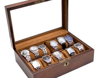 Wood watch box Etsy