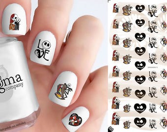 The Nightmare Before Christmas Nail Decals (Jack & Sally) - Vol III (Set of 54)