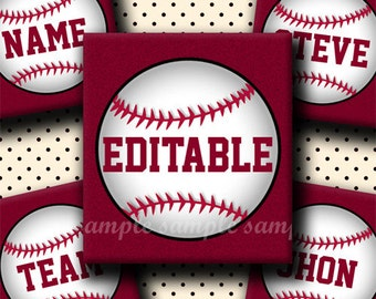 INSTANT DOWNLOAD Editable JPG Baseball (772) 4x6 1 inch Square Images Digital Collage Sheet for glass tiles resin pendants