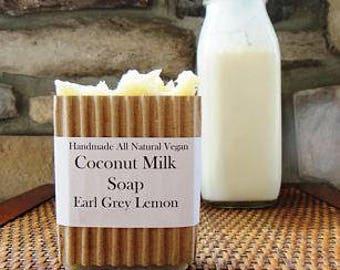 Coconut Milk Soap, All Natural Soap, Soap, Handmade Soap, Creamy Lather, Homemade Soap, Earl Grey Soap