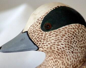 Wigeon Duck Decoy/Wooden Sculpture (1/2 Scale) (Handmade)