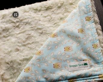 Owl Minky Baby Blanket