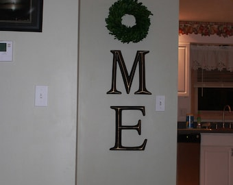 Exceptionnel Home Letters, Home Letter Sign, Home Letters With Wreath As O, Farmhouse  Home