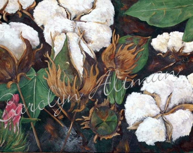 Cotton - a Bouquet of My Childhood Painting