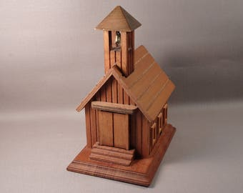 Wooden Schoolhouse 'School Days' Music Box