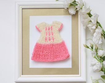 A knitted dress for custom Blythe doll outfit Blythe doll clothes Handmade for custom doll dress