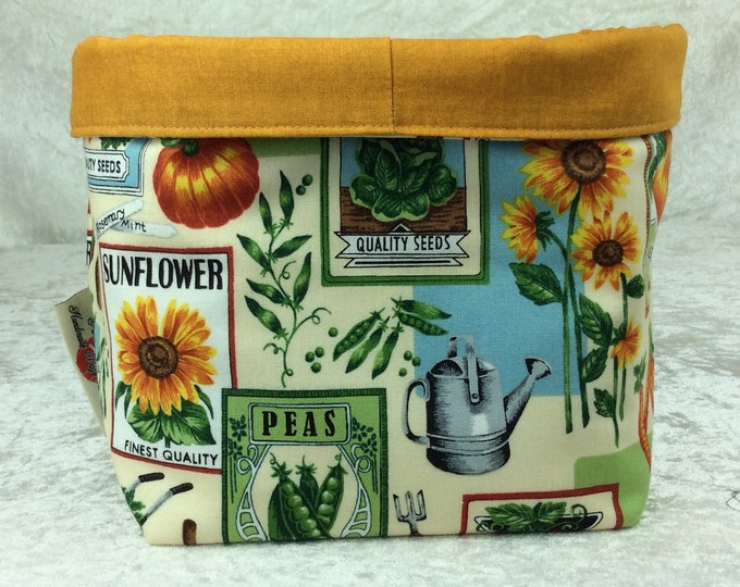 Garden seeds Fabric basket storage bin box seed packets