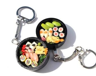 mini sushi bag charm bento box tote charm sushi purse charm japenese food jewellery asian food miniature food  tiny sushi mini food charm