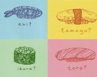 sushi daisuki card set