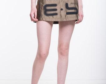 VINTAGE Brown High Waist Retro Mini Skirt