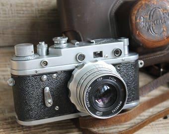rare camera / collectible camera / Old Vintage Soviet  Camera Zorki 2C   with lens  Industar - 26M / СССР / Зоркий фотоаппарат