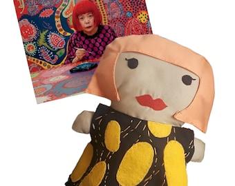 Yayoi Doll - inspired by Yayoi Kusama, art legend