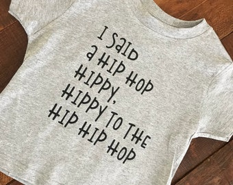 Hippy Hip Hip Hop, Easter, Hip Hop Hooray, Ho Hey Ho, Easter Funny Shirt, all baby or youth sizes