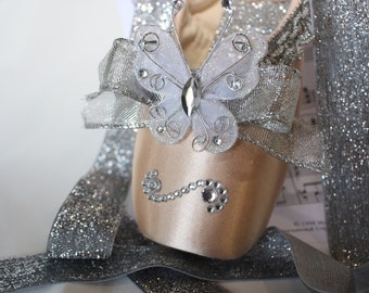 decorated Ballet Pointe Shoe