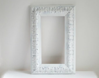 Vintage Wood Rococo Photo Frame, Carved Filigree Picture Frame Baroque Style, Wedding Bridal Anniversary Frame,  SwirlingOrange11