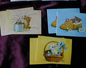 Vintage Kitten and Cat Note Cards