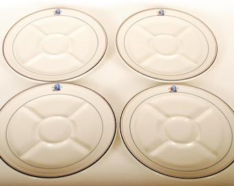 Shenango Restaurant Ware China Divided Plates 4 pc Set